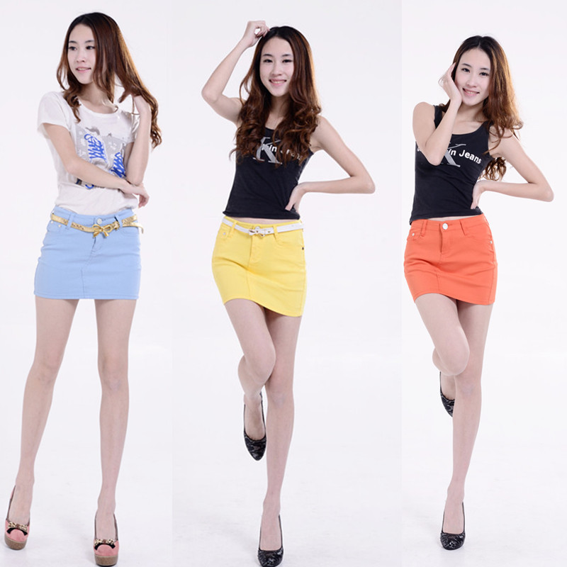 Wholesale Korean version of elastic cotton candy colored skirt Zhongshan manufacturers selling candy color skirt(China (Mainland))
