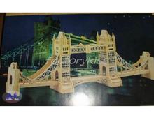 3D Tower Bridge Woodcraft Construction Kit Wood Model [5 4008-412](China (Mainland))