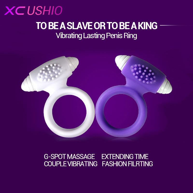 New Silicone Vibrating Cock Ring Sex Toy Penis Ring Delay Ejaculation Sex Toys for Men Sex Products for Men Penis