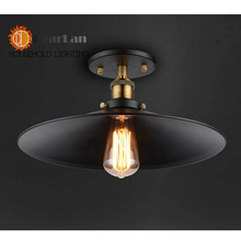 2015 New Vintage American Ceiling Lamp Metal Black Aisle Lights Balcony Ceiling Lamps For Home Modern Vintage Decorations(XE-50)(China (Mainland))