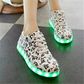 2016 brand USB luminous shoes charging version LED musical notes Colorful lights shoes and men shoes
