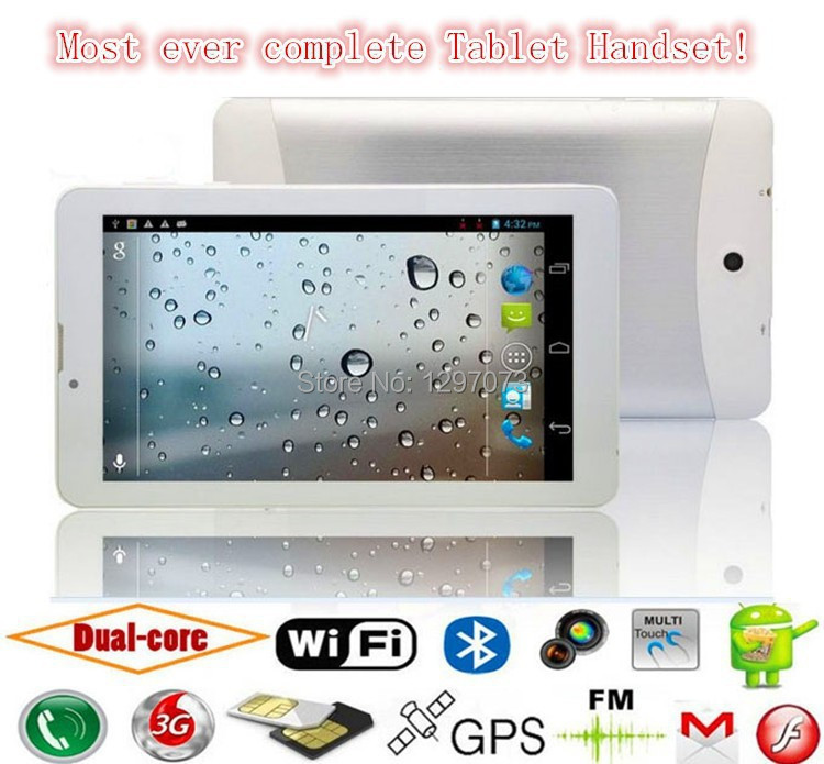 Multi-language 7 INCH MTK DUAL CORE CPU ANDROID Tablet PC Dual SIM CARD WCDMA 3G Handset GPS OTG supported Smartphone Hot sale(China (Mainland))