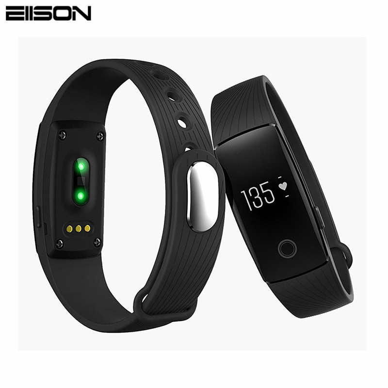 ID107 Bluetooth Fitness Bracelet Heart Rate Monitor Smart Band Activity Tracker