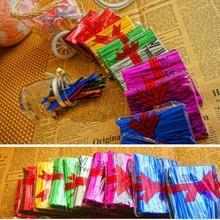 800Pcs/Pack Eyelash Packaging Twist Ties Bolsa Saco 8cm Metallic Twist Ties For Cake Lollipops Candy Food Cellophane Bag K1402(China (Mainland))