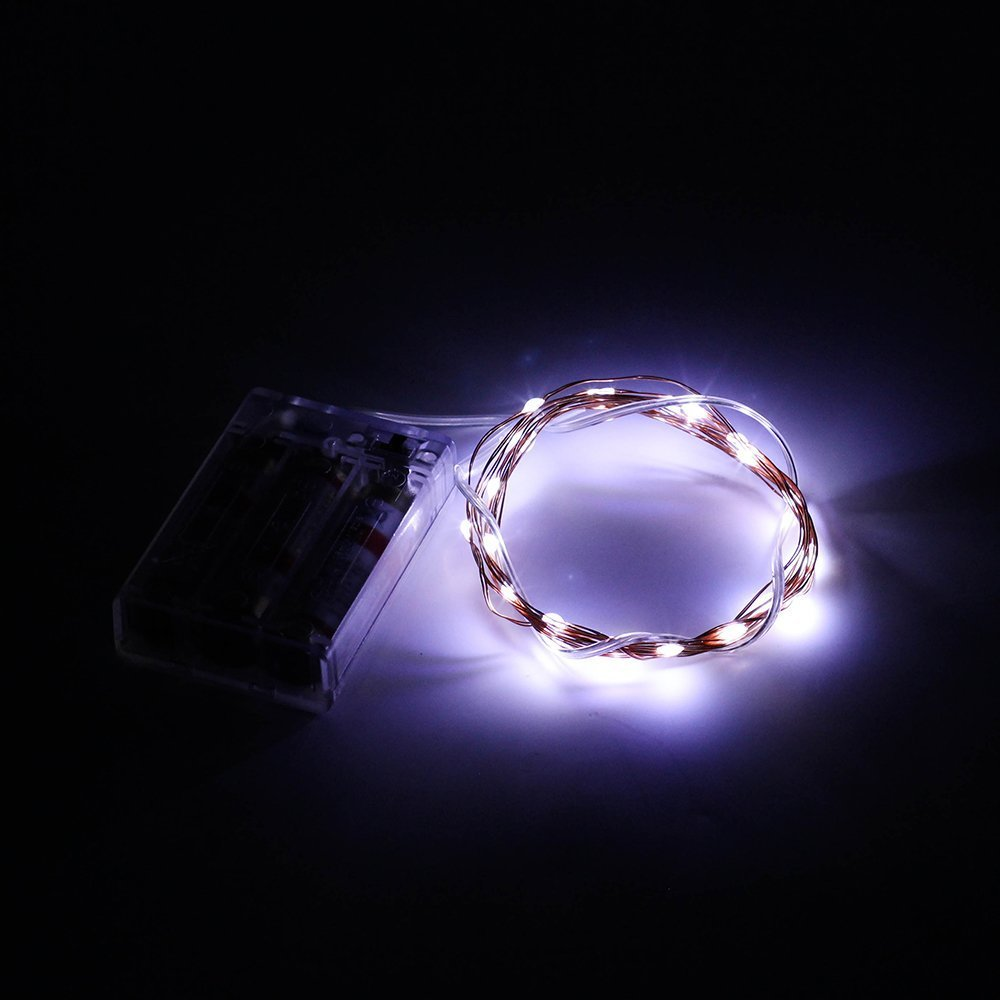 Multi color Party Battery operated wedding LED String Lights Free shipping!-in Event & Party ...