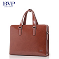 BVP 14 Leather Laptop Bag Man Maletin Hombre Portadocumentos Full Grain Cowhide Business Briefcases Totes for