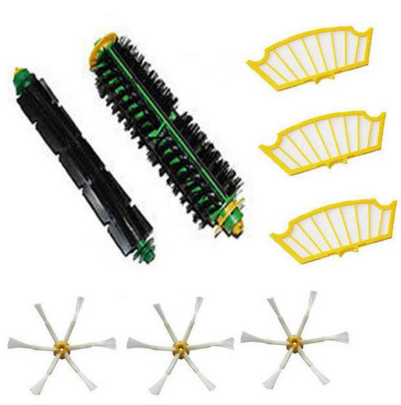 8 Pc/lot side brush + filter kit for Irobot Roomba 500 527 528 530 532 535 540 555 560 562 570 572 580 581 590 replacement(China (Mainland))