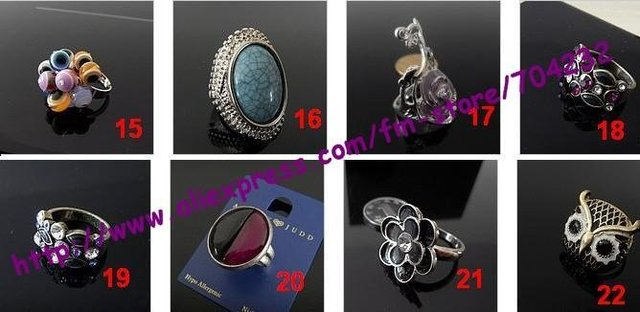 Fashion Europe and America style elegant and beautiful ring perfect jewellery as gift mix order 30pcs/lot + free shipping