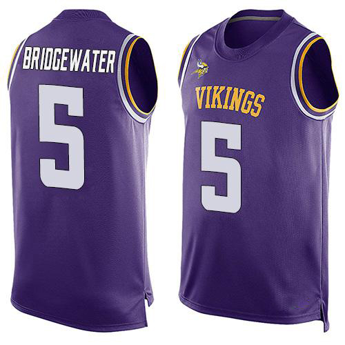 2016 Newstyle Fashion Viking Summer Must Haves Men Peterson Bridgewater Purple Player Name Minnesota Stitched Sporting Tank Top(China (Mainland))