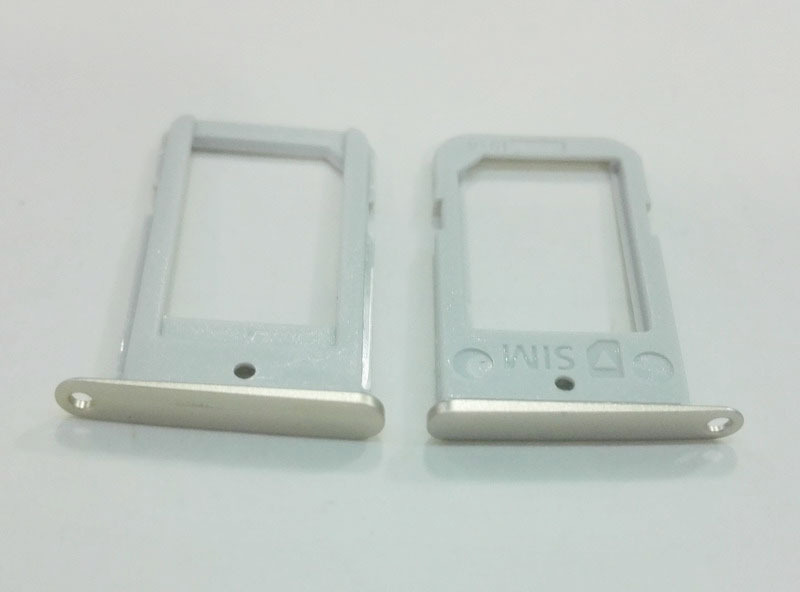 10PCS/Lot HK Post Free Shipping Original SIM Card Holder Slot Tray Container For Samsung Galaxy S6 edge G9250 G925 Series Model