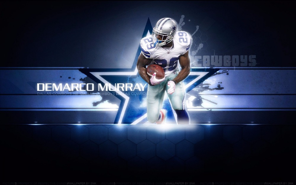 digital print DALLAS cowboys player DEMARCO MURRAY flag 90x150cm polyester FOOTBALL banner with 2 Metal Grommets 3x5ft(China (Mainland))