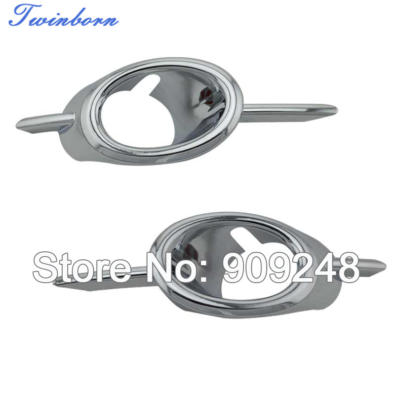 Fog Lamp Cover 2009-2011 Chevy Cruze Chrome Front Light Covers Ring Trim CC0042 - TwinBorn Auto Accessory store