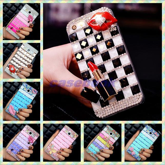 YZ1 For Samsung S6810 Case,Colorful Square Crystal Diamond Rhinestone Hard Cover For Samsung Galaxy Fame S6810 GT-S6810(China (Mainland))