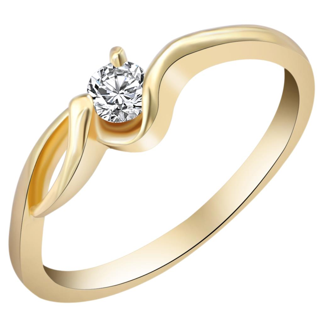 Luxury Brand Wedding Jewlery Gold Plated with Unique Shaped Inlay Zirconia Cubic Ring for Women Engament Gift Size 5-8