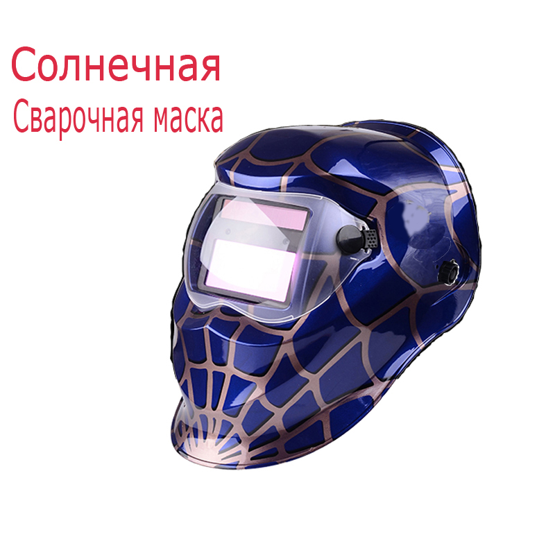 Best Price Promtion New Arrival Solar Automatic Spiderman Welding Helmets Face Shields Welding Mask Helmet Free Shipping(China (Mainland))