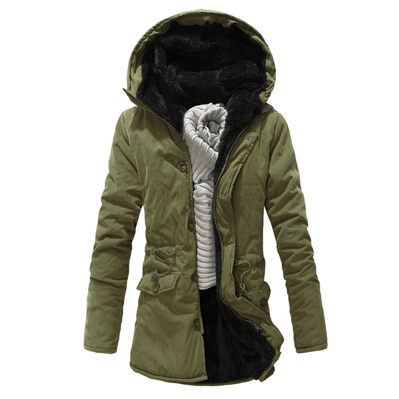 2015 neue winter m nner parka lange kapuzen milit r parkas herren verdickung thermische parkas. Black Bedroom Furniture Sets. Home Design Ideas