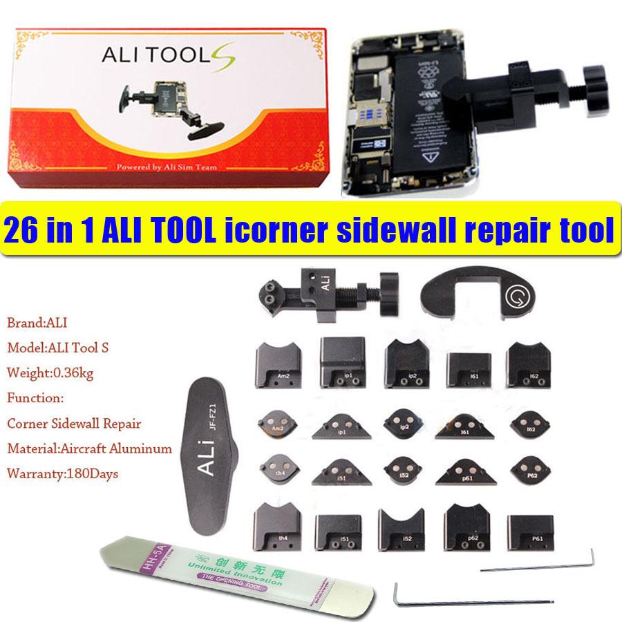 26 in 1 ALI Tool icorner Full set For iPod iPad iPhone 5 5S 6 6Plus Corner Sidewall Bends Frame Back Repair tool gTool free ship(China (Mainland))