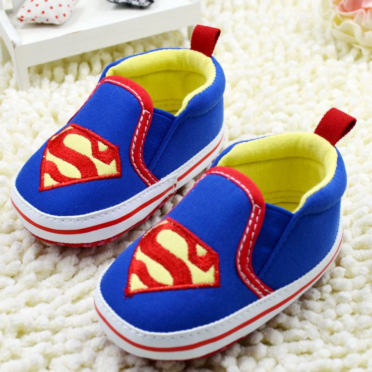 Superman Baby first step Shoes Soft Sole First Walkers boy toddler/Infant/Newborn shoes US SIZE 3, 4, 5 R1101 - GuangZhou Product Co., Ltd store