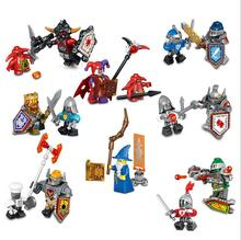 SuperHeroes Nexus Knights Castle 79301 Minifigure 1 Building Block Brick Set Clay Aaron Fox Axl figure gift - Diana Little Store store