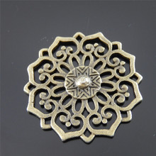 Buy AU01178 Antiqued Bronze Tone Vintage Alloy Jewelry Hollow Flower Charm Jewelry Finding Hot Sale 10PCS Fashion Jewelry Accessory for $2.75 in AliExpress store