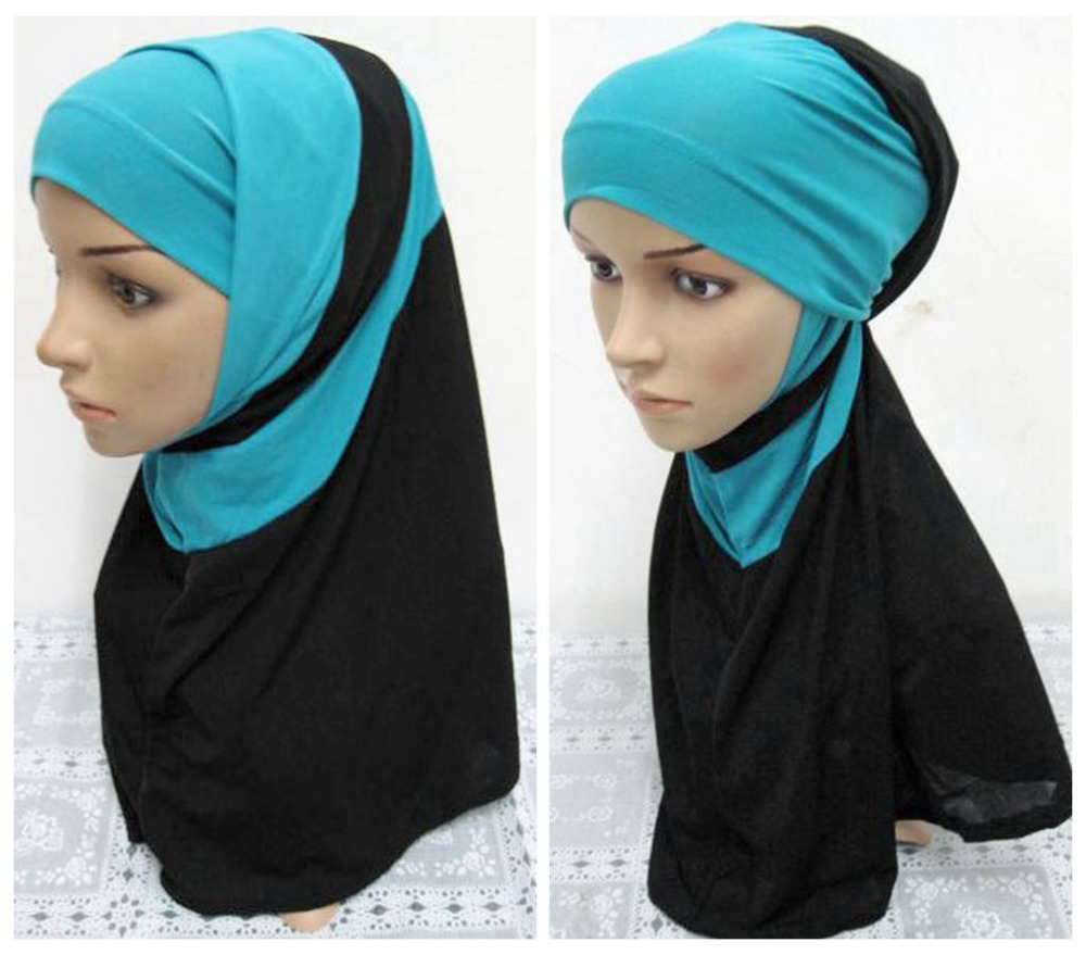 Women Real Muslims Islam Hijab Caps Scarves 2016 Brand Fashion Cotton Hat Colors All Inclusive Curved Cap Malay Muslim Ladies(China (Mainland))