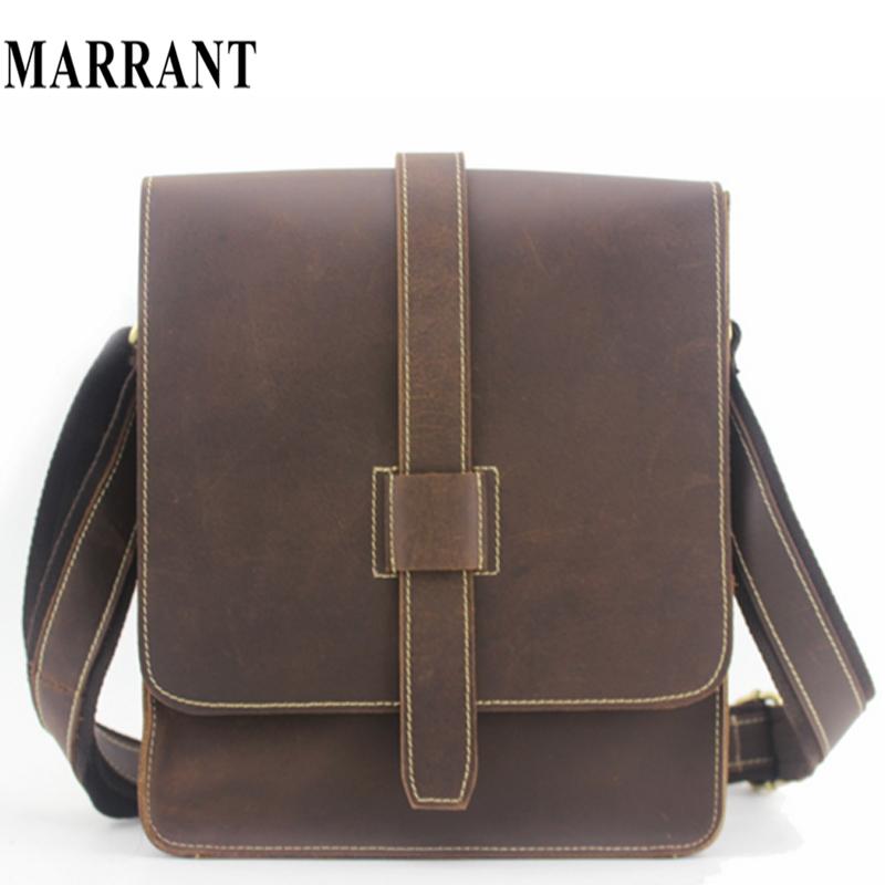 Manufacturers wholesale men messenger bags briefcase Crazy Horse Leather Satchel Bags men's travel bag leather shoulder bag(China (Mainland))