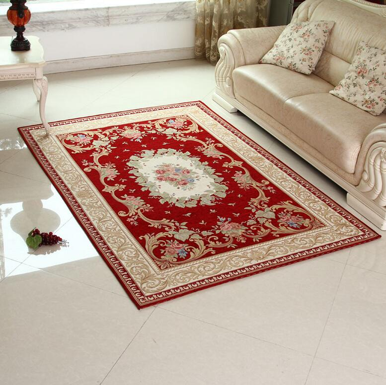 Sunnyrain luxury red carpets and rugs for living room for Living room area rugs