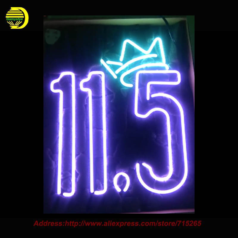 Custom 11.5 Crowl Neon Sign Hand Craft Home Decoration Neon Bulb Glass Tube Neon Signs Fairy lights Avize Indoor Attract VD17x14(China (Mainland))