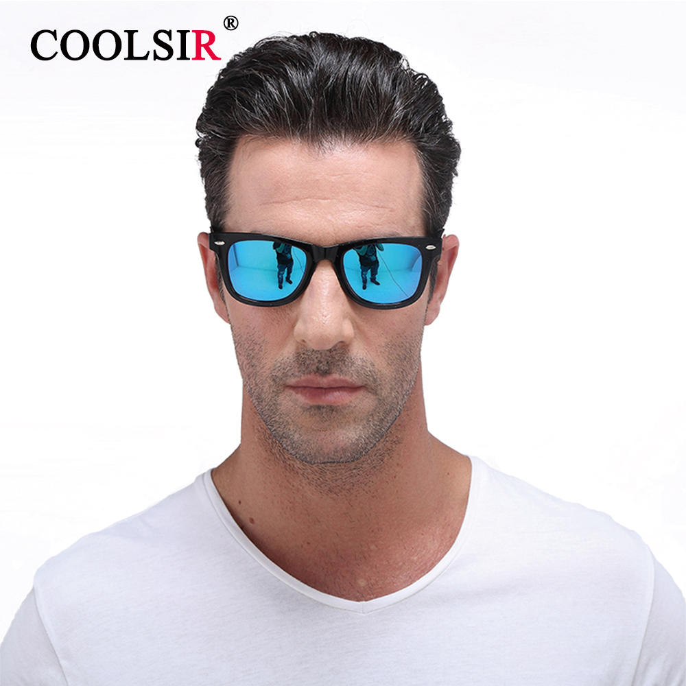 COOLER Fashion Sunglasses Men's Polarized Sunglasses Men Driving Mirror Coating Points Black Frame Glasses Male Sunglasses 2140(China (Mainland))