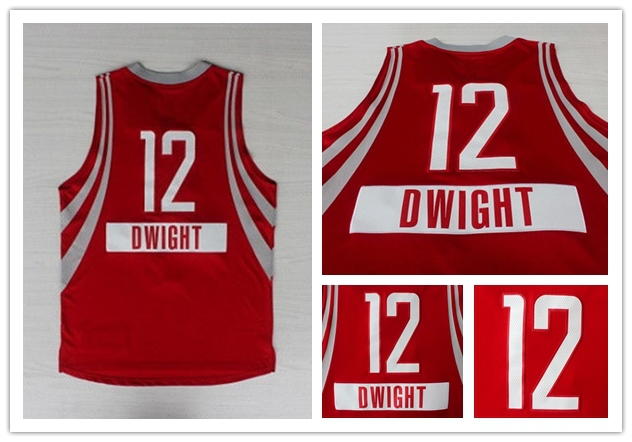 New Arrival Cheap 2014 authentic #12 Dwight Howard Christmas Jersey High Quality Christmas Basketball Jersey Size S-XXXL(China (Mainland))