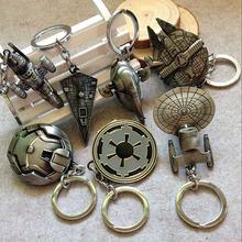 Euro-American Movie Star Wars Spaceship Logo Keychain Retail 1Piece Metal Key Chain High Quality / 6Collection
