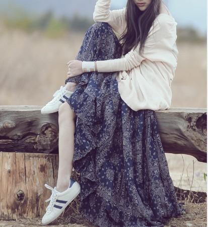 2016 Summer A-linen japanese Broken floral print Dresses Women New mori girl casual loose Bohemian Spaghetti strap dress - Rainyee Store store