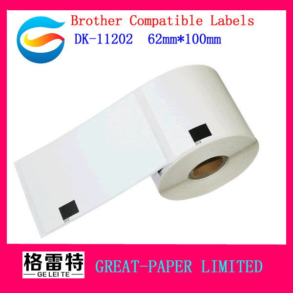 27X Rolls Brother Compatible Labels dk-11202 dk 11202 dk 1202 dk11202 dk1202 Thermal paper sticker Shipping label 62x100mm(China (Mainland))