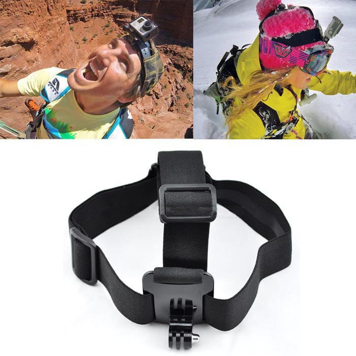 Durable Camera Adjustable Head Helmet Belt Strap Headband Mount For Gopro HD Hero 2 3 3+ Snow(China (Mainland))