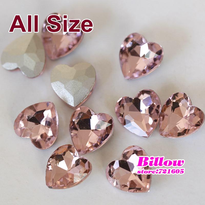 10 - 27 mm do coração Pointback fantasia pedra rosa especial - em forma de strass para vestido de noiva sapatos chapéus decoração DIY B3042(China (Mainland))