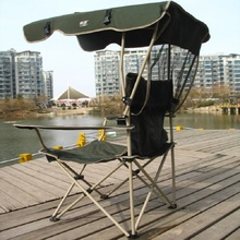 Portable fishing chair with sunshade folding chair for fishing beach chair backrest with shed camping chair