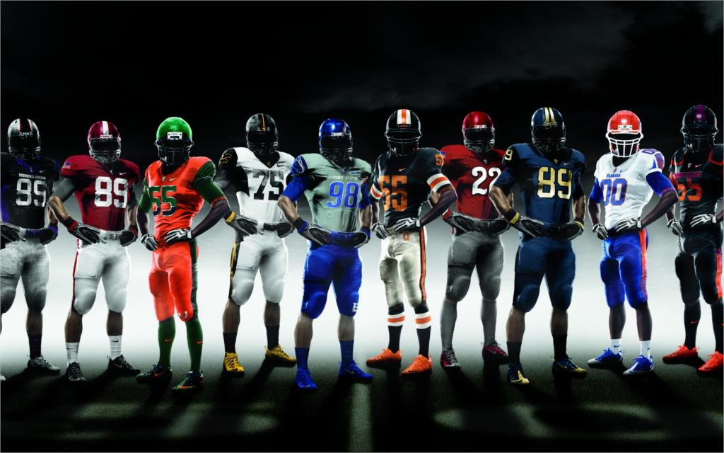 American football NCAA Pro combat in 2010 the shape sports Home Decoration Canvas Poster(China (Mainland))