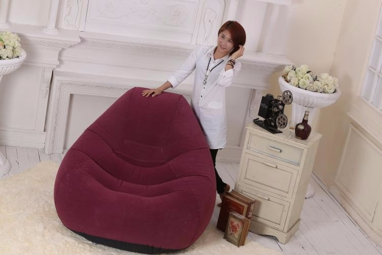High-grade flocking plus sofa backrest Leisure inflatable sofa Give Electric pneumatic pump