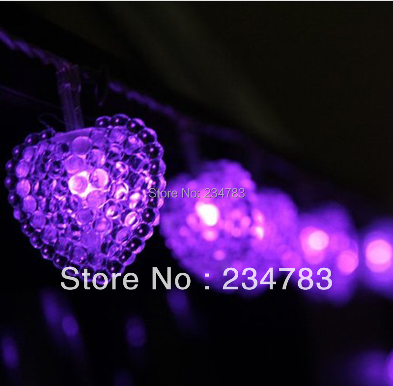 Purple Led Christmas Lights String Battery Powered 40 Led Indoor Fairy Light For Bedroom Party
