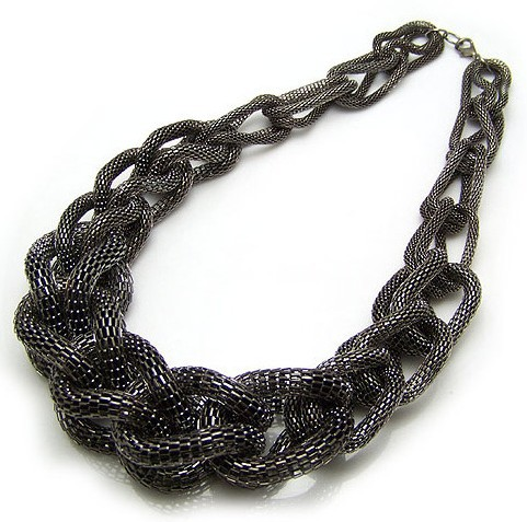 Korean Star Design Necklace Vintage Jewelry Power Chunky Chain Twist Black Women Night Club Gifts! - Jewelry&Clothes Store store