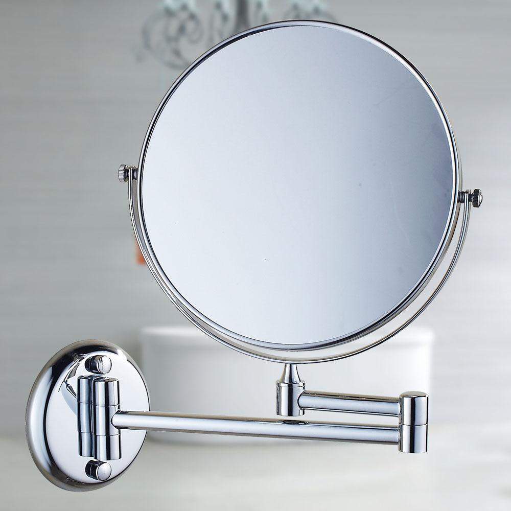 Beauty mirror wall mirror bathroom mirror telescopic folding golden toilet sided magnifying mirror. Mirror For Toilet