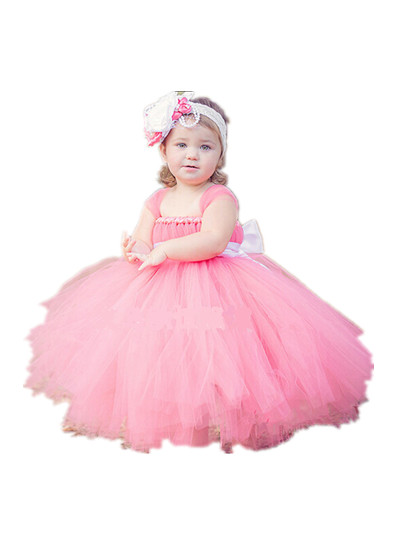 Buy christmas children 39 s wedding baby flower girl dresses for Wedding dresses for baby girls