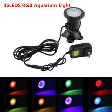 3.5W 36led aquarium light RGB Submersible Spotlights Garden Pond Pool fish Tank Underwater Bulb EU UK US AU Pulg optional(China (Mainland))