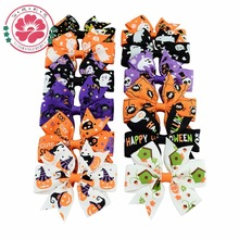Buy 3 inch Halloween Grosgrain Ribbon Bows WITH Clip 24 pcs/lot Ghost Pumpkin Pinwheel Hair Clips Hair Pin Accessories 638 for $6.99 in AliExpress store