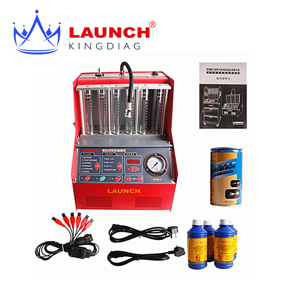 100% Origninal Launch CNC 602A CNC602A injector cleaner and tester CNC-602A With English Panel free shipping DHL