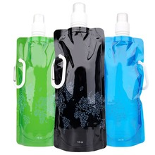 Practical beautiful Portable folding water bottle Bladder outdoor sport portable folding water bag Eco-Friendly