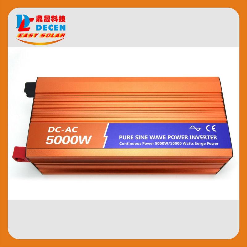DECEN 5000W 12VDC 110V/120V/220V/230VAC 50Hz/60Hz Peak Power 10000W Off-grid Pure Sine Wave Solar Inverter or Wind Inverter<br><br>Aliexpress
