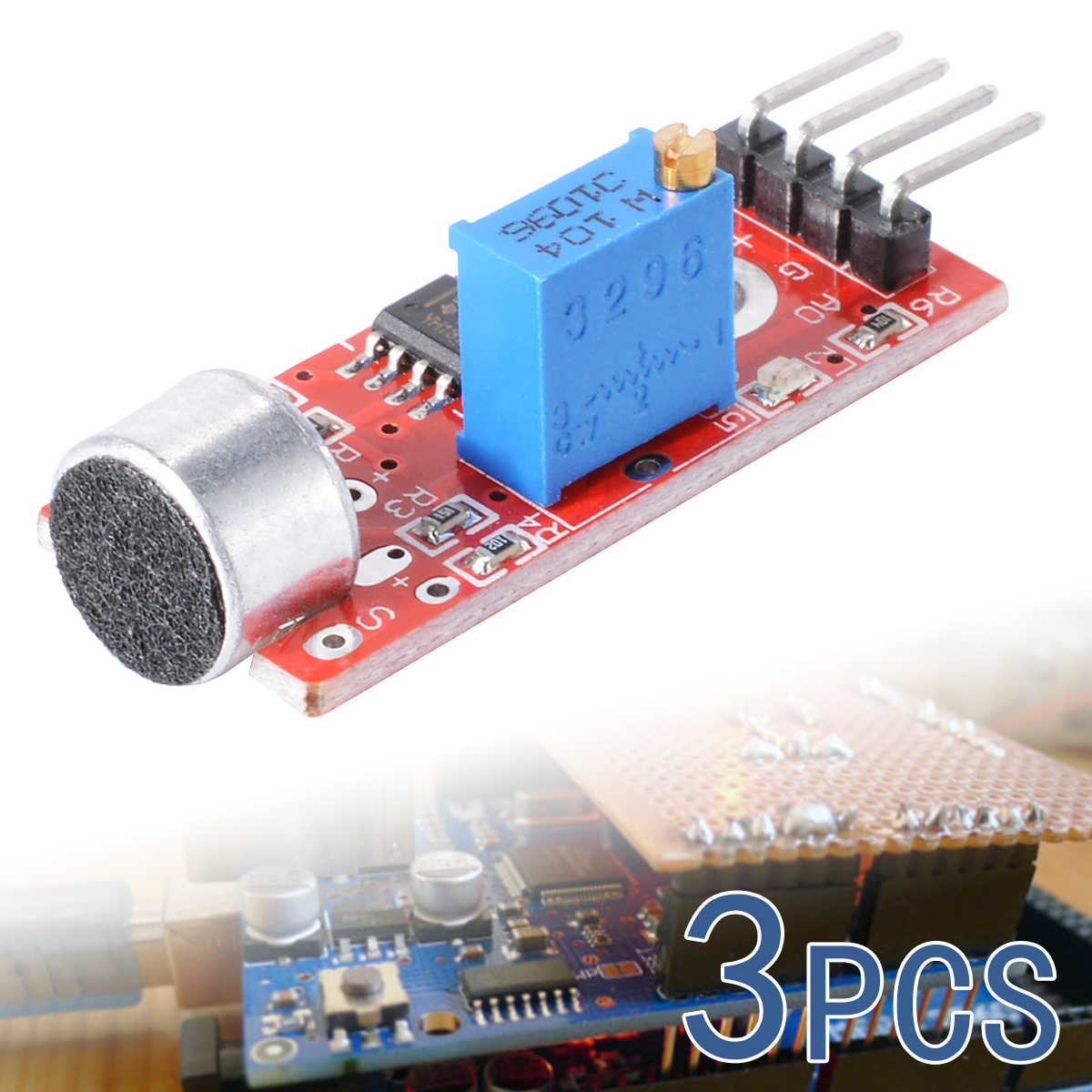 3X Microphone Sensor Sensitivity Sound Voice Module For Arduino PIC AVR TE136(China (Mainland))