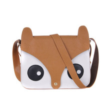 2016 Fashion Women's Bag Famous designer handbags women tote shoulder bag cartoon fox leather Female messenger bags bolsos Sac
