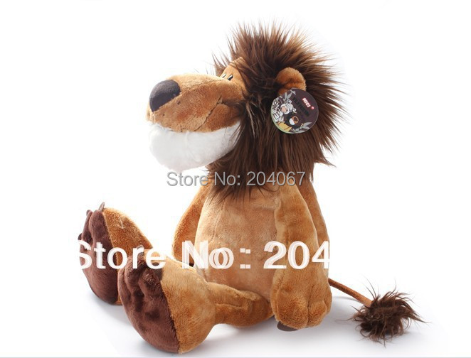 "Plush Lion Stuffed Doll Plush Jungle Series Animal TOYS 25CM OR 10"" FREE SHIPPING On Sale(China (Mainland))"